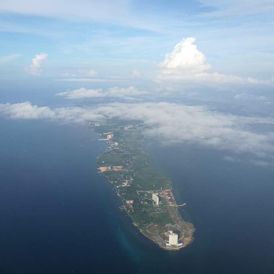 上空からみたセブ島の美しさ。5年間お世話になりました!