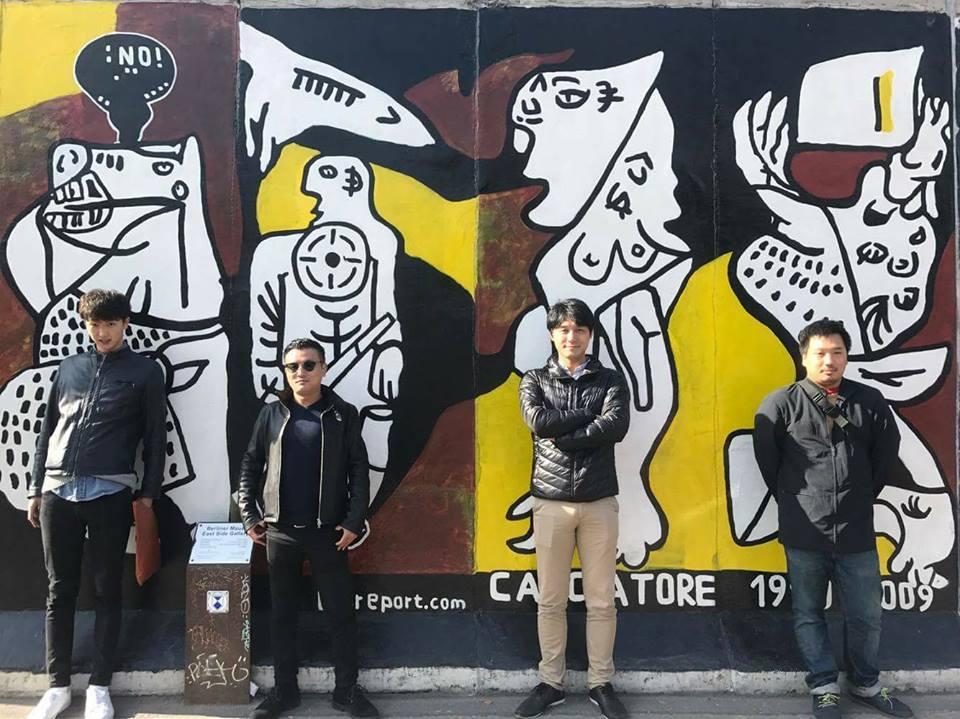 ベルリンの壁のアート ベルリン起業家の日々